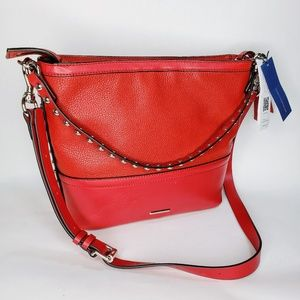 NWT Rebecca Minkoff Red Studded Zippered Handbag